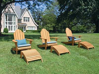 Adirondack Teak Outdoor Chairs