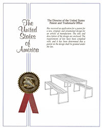 Bond picnic table patent