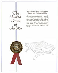 Fiori Square Coffee Table patent