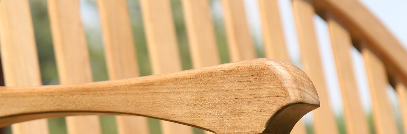 Teak Bench Close Up