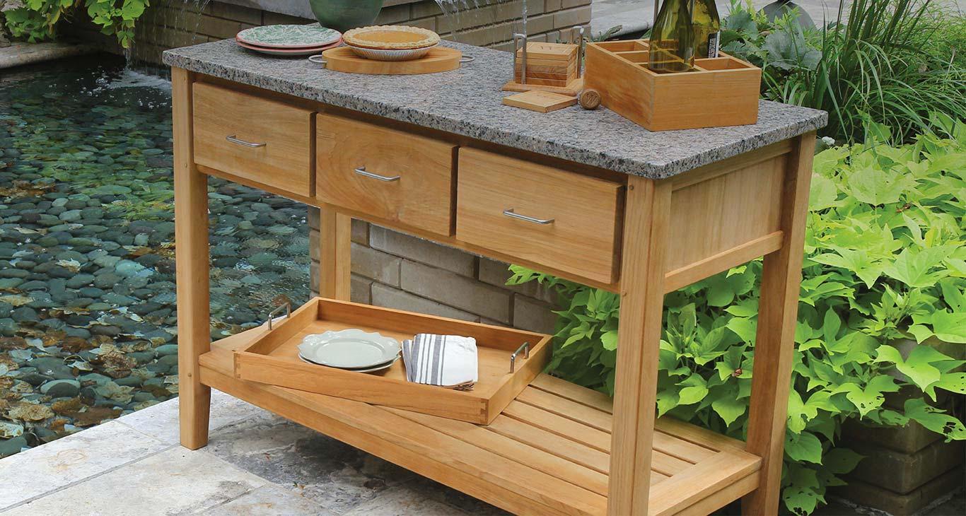 Featured Teak Outdoor Furniture - Berwick Teak Console Table