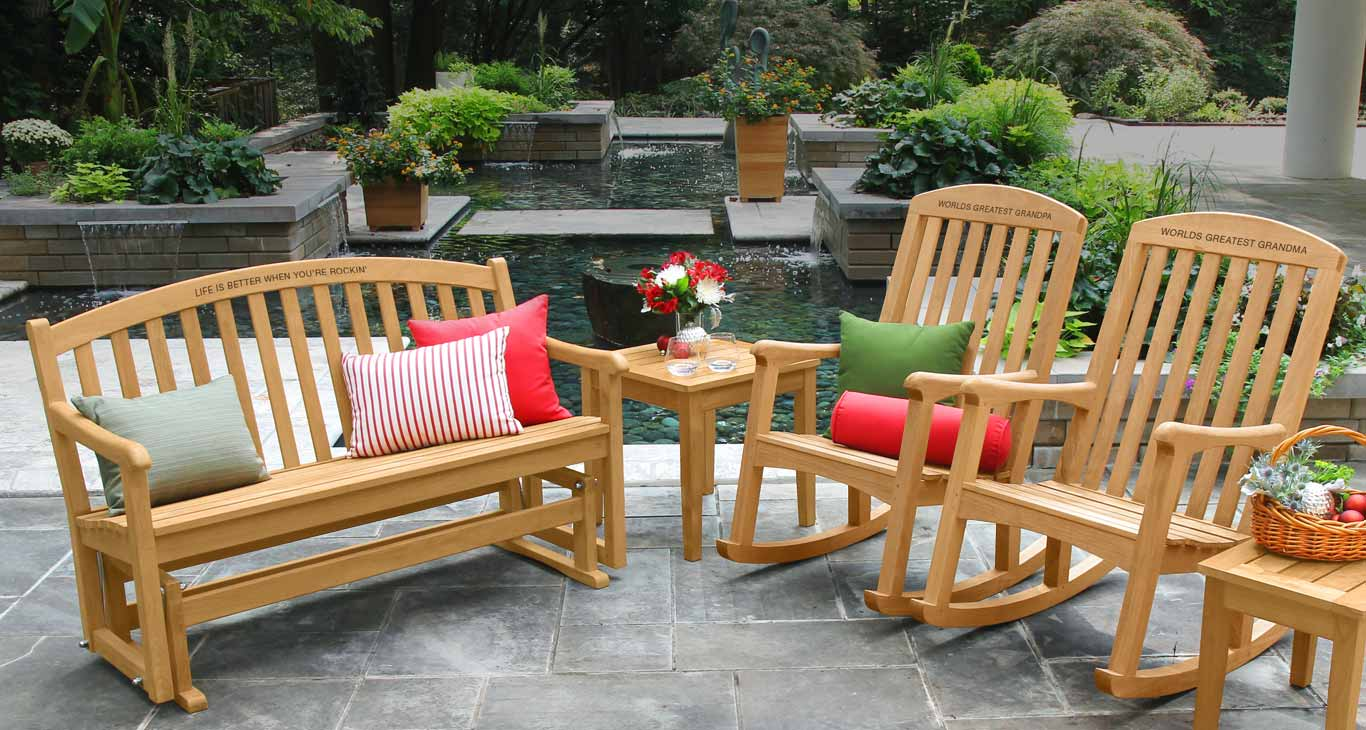 Personalized Teak Rocking Chairs