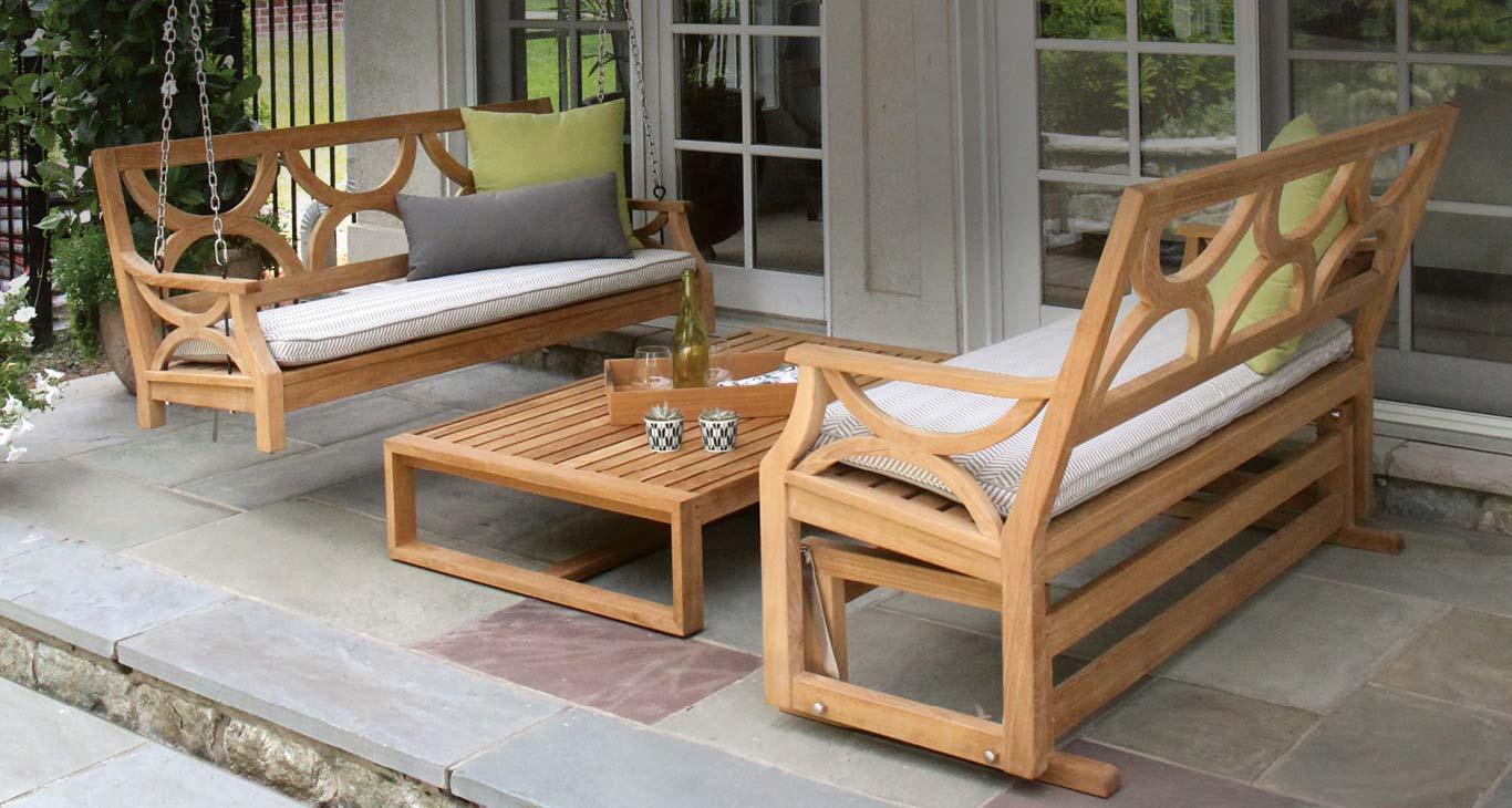 Teak Outdoor Furniture - Teak Swing and Gliders