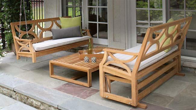 Teak Outdoor Furniture -  Teak Swings and Gliders