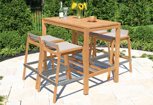 teak bar table