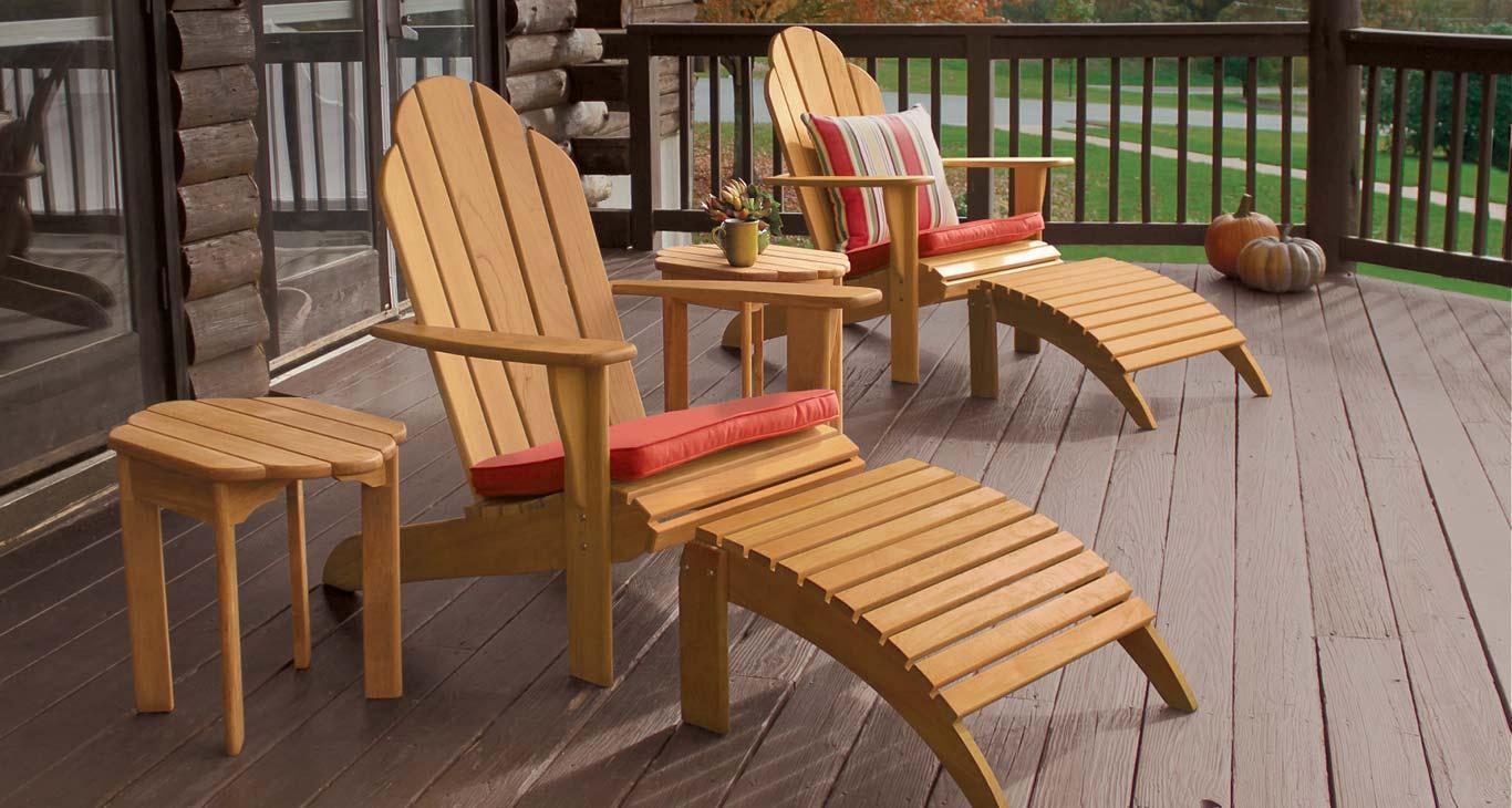 Teak Outdoor Furniture - Adirondack Chairs
